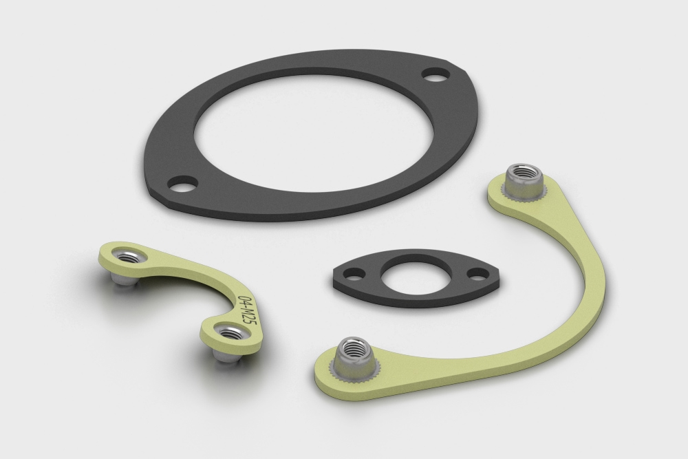 LMA Motorsport Nut Plates and Gasket-8STA