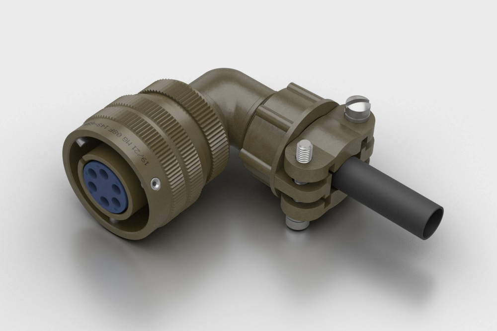 MG MIL-DTL-5015 Free Cable Mounted Right Angled Socket Connector